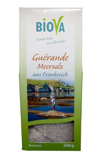 Biova Gourmetsalz Guérande Meersalz aus Frankreich 200g