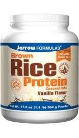 Jarrow Brown Rice Protein Konzentrat, Vanille-Geschmack, 504 g Pulver (vegan)