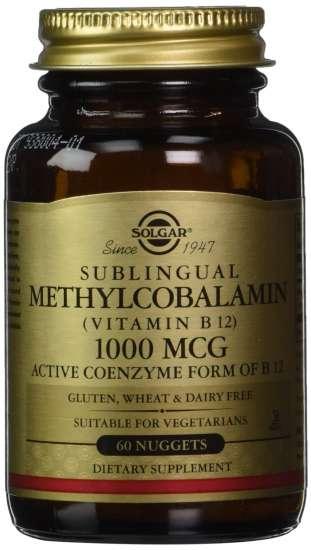 Solgar Methylcobalamin (Vitamin B12) 1000mcg 60 Nuggets (vegan)