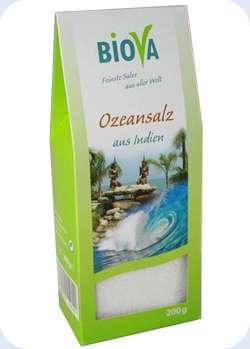 Biova Gourmetsalz Ozeansalz (Meersalz) aus indien 200g