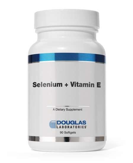 Douglas Laboratories USA Selenium + Vitamin E [50mcg Selen + 268mch Vitamin E] 90 Softgels