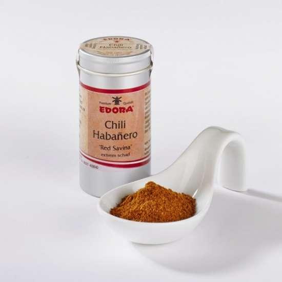 Edora Chili Habanero Red savina, extrem scharf (Schärfegrad 10 230.00 Scoville) 30g
