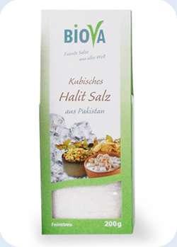 Biova Gourmetsalz Kubisches Halitsalz Feinstreu aus Pakistan 200g