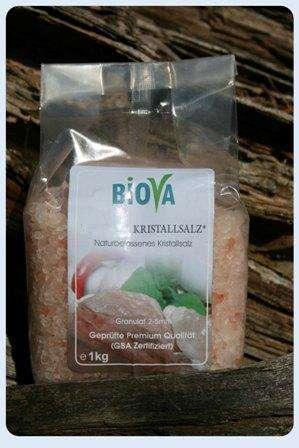 Biova Gourmetsalz Kristallsalz* Granulat aus Pakistan 2x1kg PE-Beutel