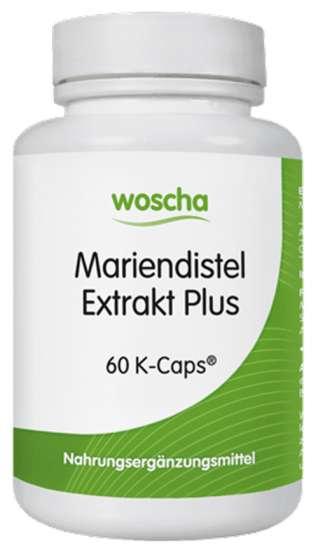 woscha Mariendistel Extrakt Plus 37g, 60 veg. K-CAPS® (vegan