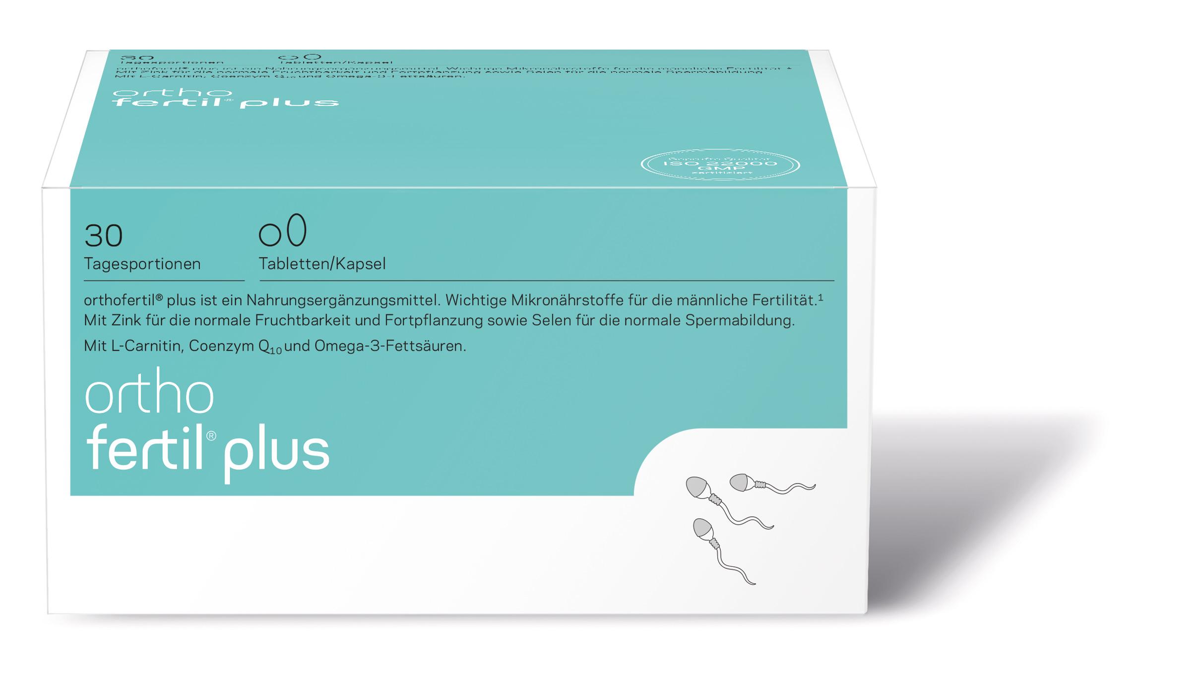 orthomed orthofertil® 30 Tagesportionen (3 Tabletten / 1 Kapsel) (30x 3g = 90g)