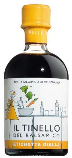 Il Borgo del Balsamico Aceto Balsamico di Modena Il Tinello Gialla, junger Balsamessig 250ml Flasche