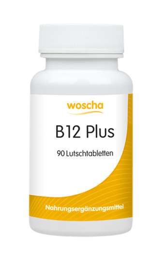 woscha B12 plus (Methyl+Adenosylcobalamin) 90 Lutschtabletten (47g) (vegan)