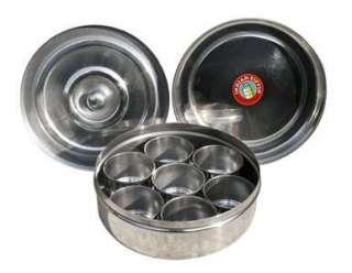 ayurvedische und indische lebensmittel kaufen indian tiffin masala dabba 17cm 1 st ck. Black Bedroom Furniture Sets. Home Design Ideas