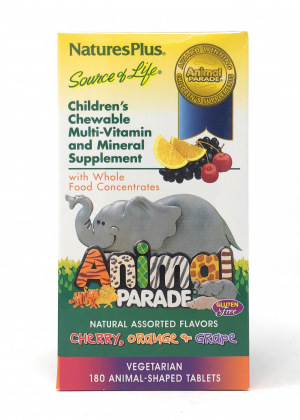 Natures Plus Source of Life® Animal Parade® Multivitamin gemischter Geschmack 180 Kautabletten (336,6g)