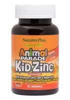 Natures Plus Source of Life Animal Parade® KidZinc Tangerine 90 Lutschtabletten (123,9g)