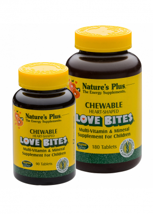 Natures Plus Love Bites® Children's Chewable Multi-Vitamin and Mineral 180 Lutschtabletten