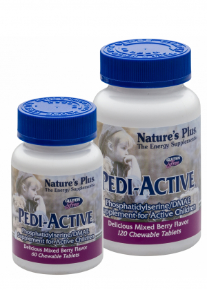 Natures Plus Pedi-Active® mit LECI-PS®/DMAE 120 Lutschtabletten (126,2g)