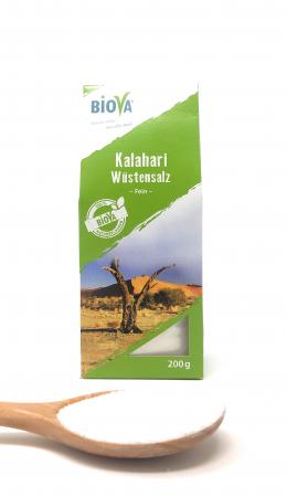 Biova Gourmetsalz Kalahari Wüstensalz fein 0,1-0,6mm 200g Faltschachtel