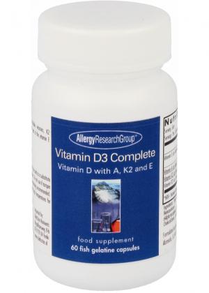 Allergy Research Group Vitamin D3 Complete 60 Fischgelatine-Kapseln