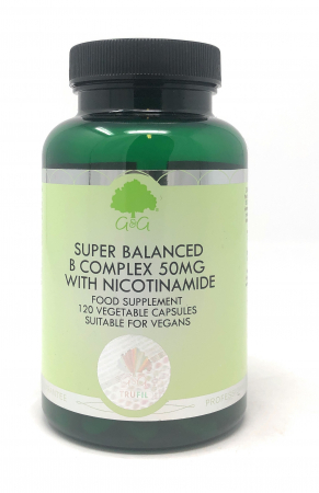 G&G Vitamins Super Balanced B Complex 50mg with Nicotinamide 120 veg. Kapseln (56,8g) (vegan)