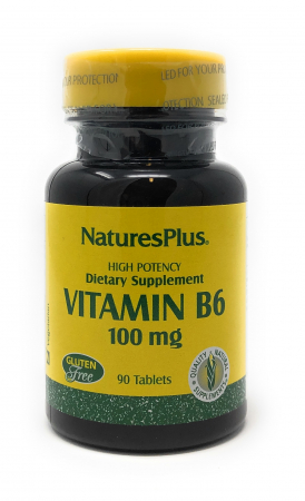 Natures Plus Vitamin B-6 (Pyridoxin) 100mg 90 Tabletten (46,6g)