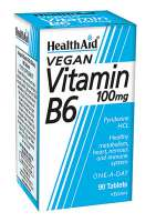 HealthAid Vitamin B6 (Pyridoxine HCl) 100mg 90 Tabletten (vegan)