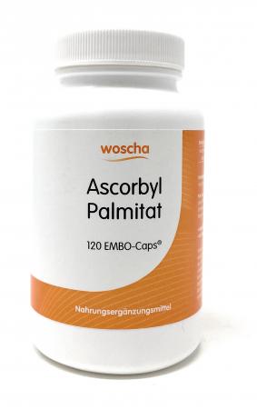 woscha Ascorbylpalmitat 120 Embo-Caps (71g) (vegan)