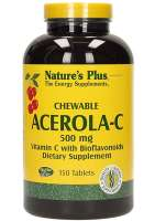 Natures Plus Chewable Acerola-C Complex Vitamin C 500mg 150 Kautabletten (520g)