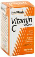 HealthAid Vitamin C 500mg Chewable (Orange Flavour) 100 Kautabletten