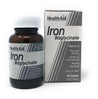 HealthAid Iron Bisglycinate (Iron with Vitamin C) (Eisen+Vit. C) 90 Tabletten