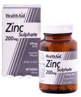 Health Aid Zinc Sulphate 200mg (45mg Zink) 90 Tabletten (vegan)