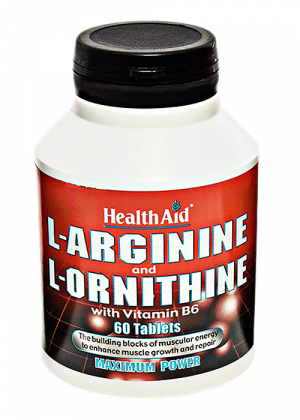 HealthAid L-Arginine and L-Ornithine with Vitamin B6 60 Tabletten
