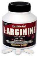 Health Aid L-Arginine 500mg 60 Tabletten (vegan)