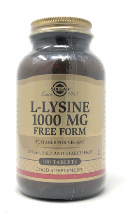Solgar L-Lysine (Free Form) 1000mg 100 Tabletten (vegan)