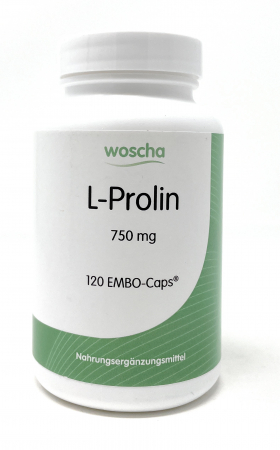 woscha L-Prolin 750mg 120 Embo-Caps (104g) vegan)