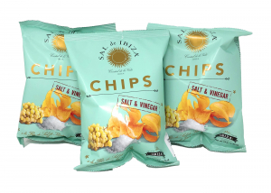 (3er Set) Sal de Ibiza Chips Salt & Vinegar 3x45g Beutel = 135g