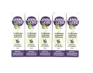 (5er Set) Trend2Business Canna2CBD 5% 500mg CBD 5 x 10ml Öl
