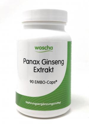 woscha Panax Ginseng Extrakt 90 Embo-CAPS® (69g) (vegan)