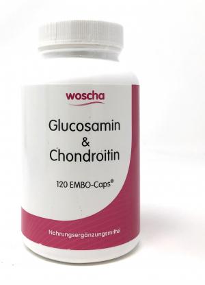 woscha Glucosamine & Chondroitin 120 veg. Kapseln (100g)