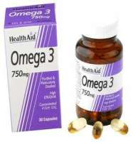Health Aid Omega 3 750mg (EPA 425mg, DHA 325mg) 30 Softgels