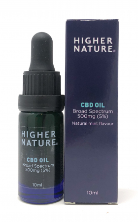 Higher Nature CBD Oil Broad Spectrum 500mg (5%) 10ml