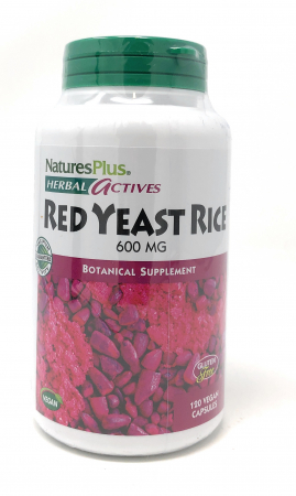 Natures Plus Herbal Actives Red Yeast Rice 600mg 120 veg. Kapseln