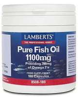 Lamberts Pure Fish Oil (Fischöl) 1100mg 180 Softgels